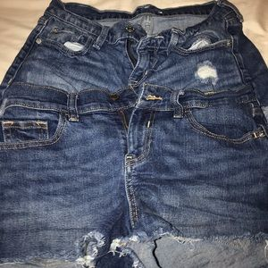 2 pairs of old navy jean shorts bundle